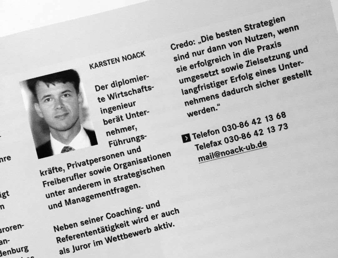 Pressespiegel - Karsten Noack Coaching & Training Berlin